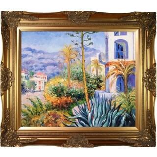 Claude Monet 'Villas at Bordighera' Hand Painted Framed Canvas Art