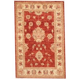 Herat Oriental Afghan Hand-knotted Vegetable Dye Oushak Wool Rug (2'9 x 4'2)