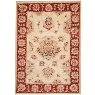 Herat Oriental Afghan Hand-knotted Vegetable Dye Oushak Wool Rug (2'7 x 3'8)