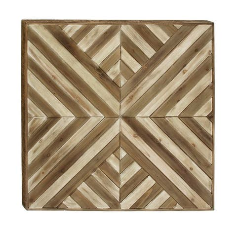 Studio 350 Wood Wall Decor 32 inches wide, 32 inches high - Brown