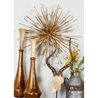 Benzara Gorgeous Orb Gold Metal Wall Decors (Pack of 3)