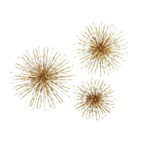 Studio 350 Metal Gold Wll Decr Set of 3, 16 inches, 20 inches, 24 inches D