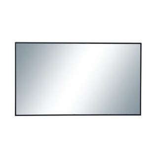 Benzara Trendy Black Wood and Glass Rectangle Wall Mirror