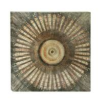 Benzara Astonishing Circular Canvas Metal Art Print