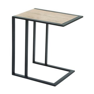 Benzara Metal and Wood Side Table
