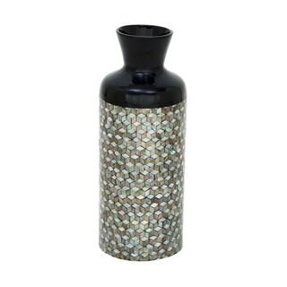 Benzara Elegant Lacquer Mop Vase