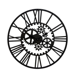 Carbon Loft Maunchly Black Iron Gear Clock