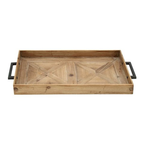 Pine Canopy Verbena Wood and Metal Tray