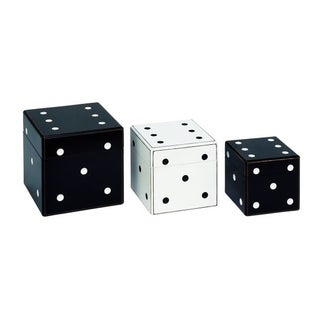 Benzara Mesmerizing Wood Dice Boxes (Pack of 3)