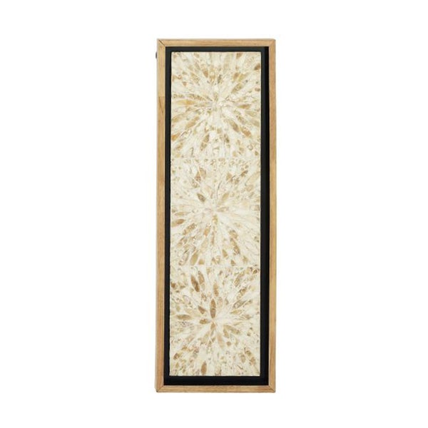 Studio 350 Wood Shell Wall Decor 12 inches wide, 36 inches high