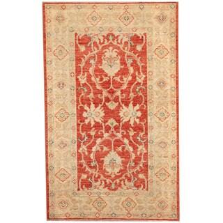 Herat Oriental Afghan Hand-knotted Vegetable Dye Oushak Wool Rug (2'6 x 4'1)