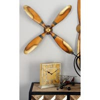 Benzara Brown Metal and Wood Wall Decor