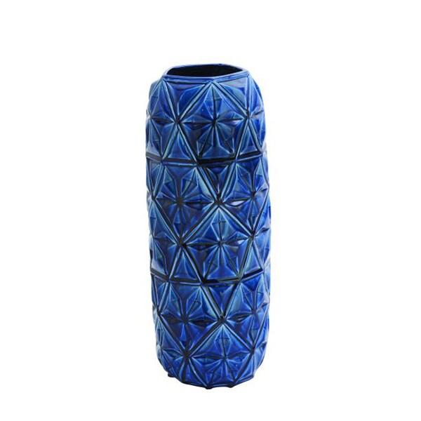 Benzara Blue Ceramic Vase