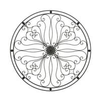 Benzara Round Metal Wall Decor