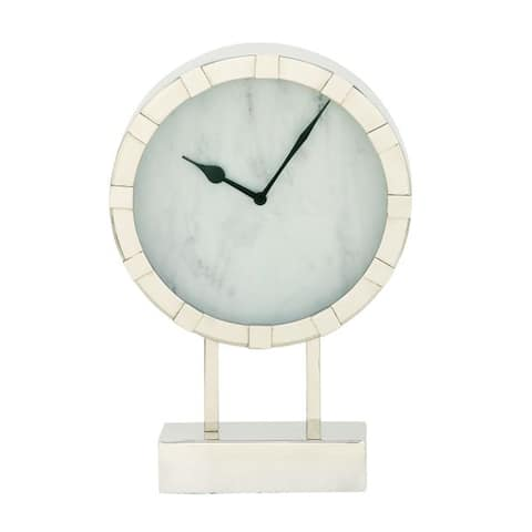 Strick & Bolton Buri Stainless Steel Table Clock