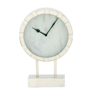 Strick & Bolton Buri Stainless Steel Table Clock