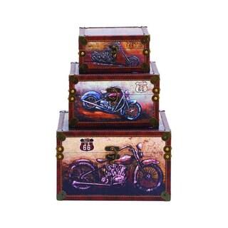 Benzara Stylish Wood Box (Set of 3)