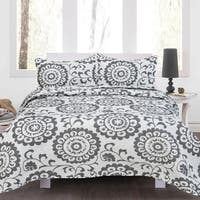 Lauren Taylor - Doris 3pc Microfiber Quilt Set
