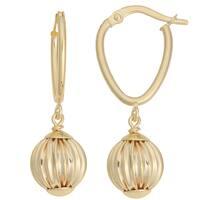 Fremada Italian 14k Yellow Gold Ball Drop Earrings