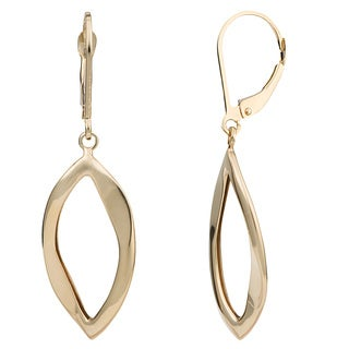 Fremada 14k Yellow Gold High Polish Marquise Leverback Earrings