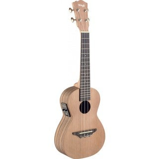 Stagg UCX-ZEB-SE Zebrawood Acoustic/ Electric Concert Ukulele with Built-in Tuner
