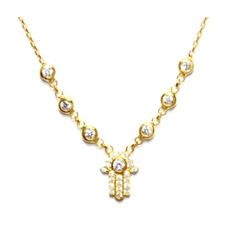 Goldplated Sterling Silver Hamsa Necklace