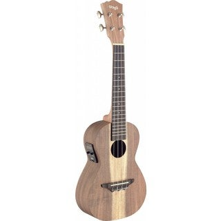 Stagg UCX-ACA-SE Acacia Wood Acoustic-electric Concert Ukulele with Built-in Tuner
