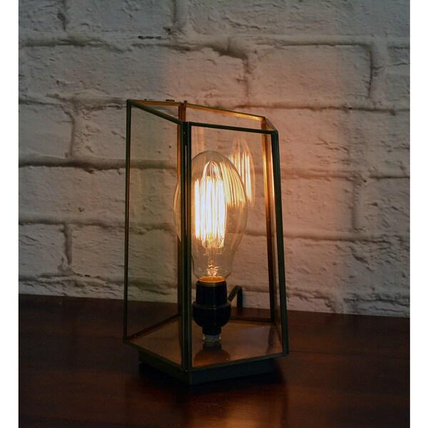 Shop Pentagonal Glass Terrarium Table Top Lamp India Free