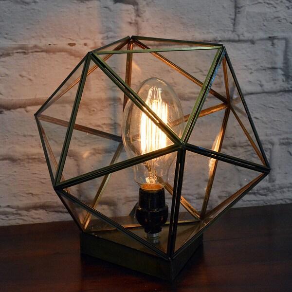 Geometric Glass Terrarium Lamp (India)