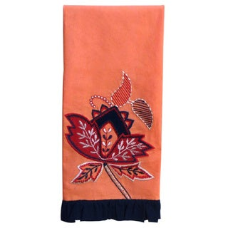 Handmade Embroidered Dish Towel (India)