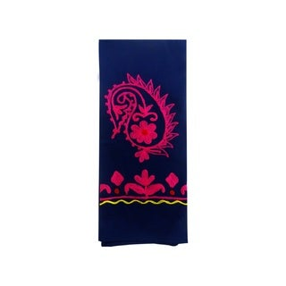Handmade Colorful Embroidered Rabari Towel (India)