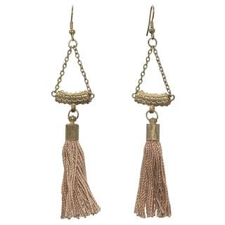 Handmade Brass Tassel Earrings (india)