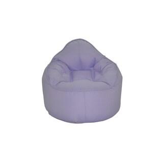 Modern Bean Bag The Pod Purple Polyester Bean Bag Chair