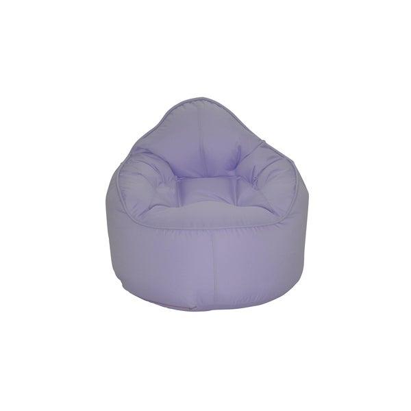 Shop Modern Bean Bag The Pod Purple Polyester Bean Bag