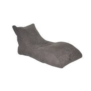 Modern Bean Bag The Slacker Grey Microsuede Bean Bag Lounger