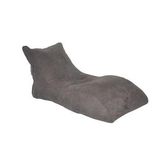 Modern Bean Bag The Slacker Grey Microsuede Bean Bag Lounger