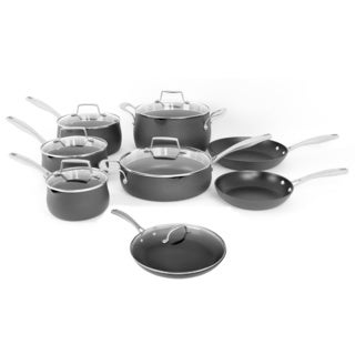 Oneida Black Hard Anodized Aluminum 14-piece Cookware Pack