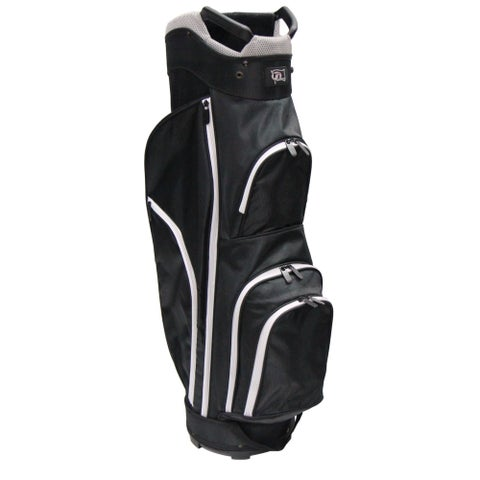 RJ Sports CC-490 Black Nylon 9-inch Starter Cart Bag