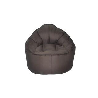 Modern Bean Bag The Giant Pod Brown Polyester Bean Bag Chair