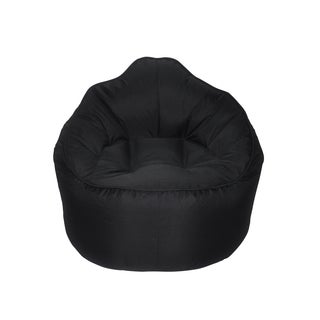 The Giant Pod Black Polyester Bean Bag Chair