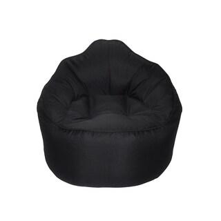 The Giant Pod Black Polyester Bean Bag Chair
