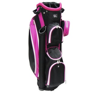RJ Sports LB-960 Black Nylon Women's 9-inch Cart Bag With 3-pack Head Covers