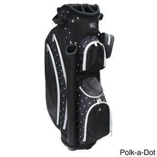 RJ Sports LB-960 Black Nylon Women's 9-inch Cart Bag With 3-pack Head Covers (4 options available)