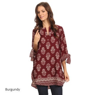 Women's Polyester Tapestry Pattern Tunic