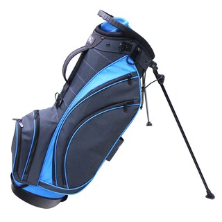 RJ Sports SB-495 Nylon 9-inch Lightweight Golf Bab with Stand (Option: CHARCOAL/TRUE BLUE)