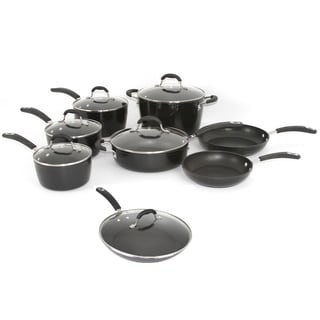 Oneida Black Forged Aluminum 14-piece Cookware Pack