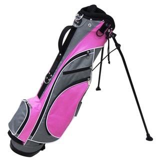 RJ Sports Unisex Typhoon Grey Nylon 16-inch Golf Mini Stand Bag