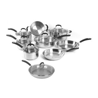 Oneida Stainless Steel and Glass 15-piece Cookware Pack