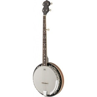 Stagg Mahogany and Maple Left-handed Deluxe 5-string Bluegrass Banjo
