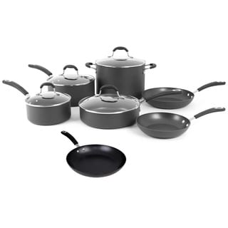 Oneida Black Hard Anodized Aluminum 11-piece Non-stick Cookware Pack